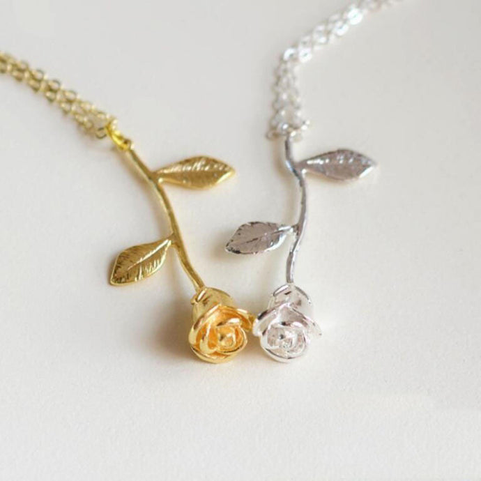 Fine Rose Pendant Necklace