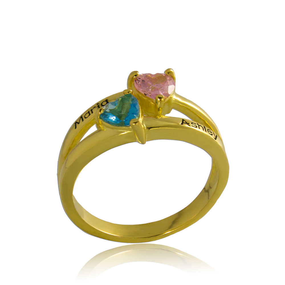 Birthstone Ring Personalized Jewelry Gold