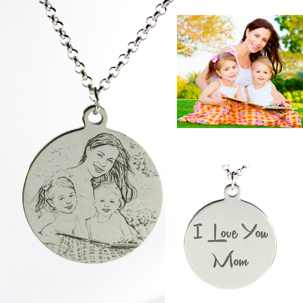 Women's Personalized Photo Necklace