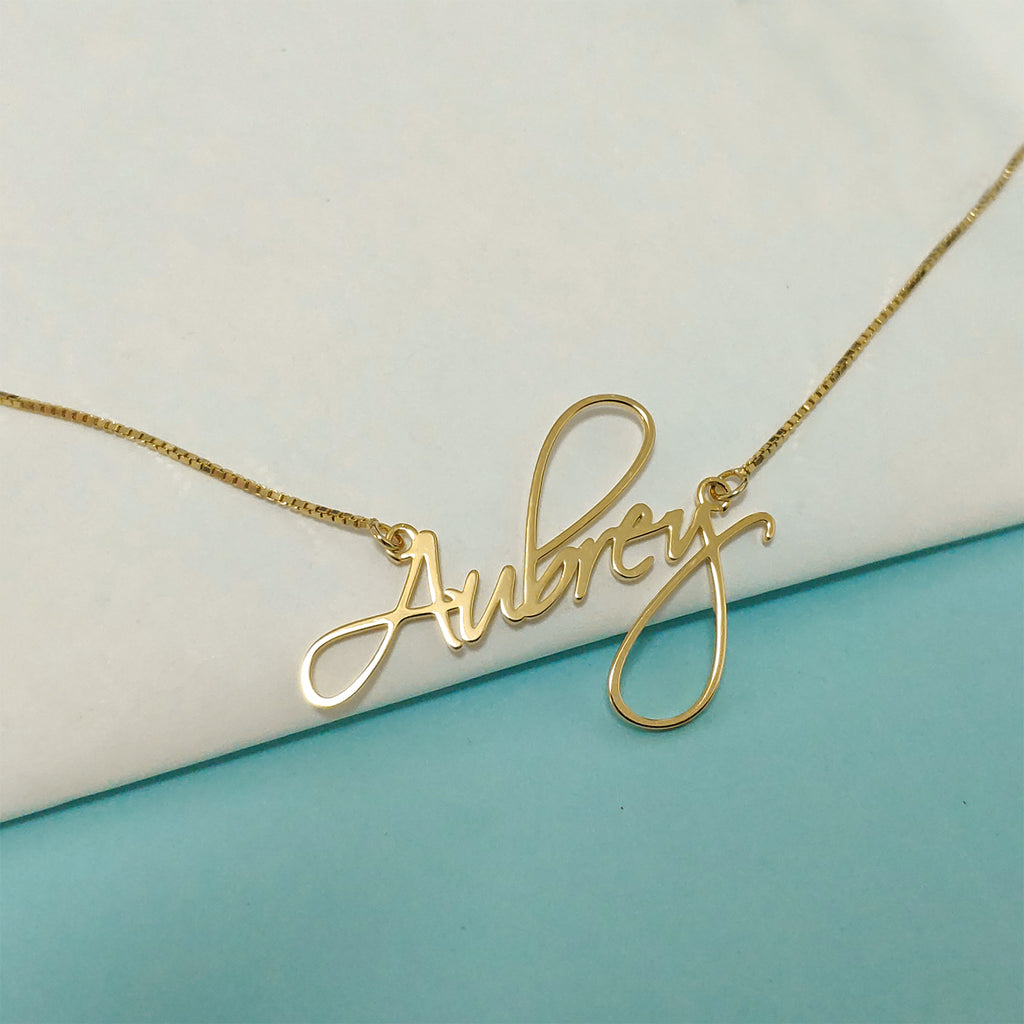 Custom Name Necklace Minimal 3 Color
