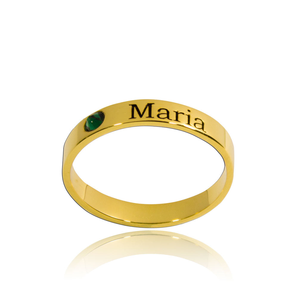 Stackable Birthstone Ring Gold
