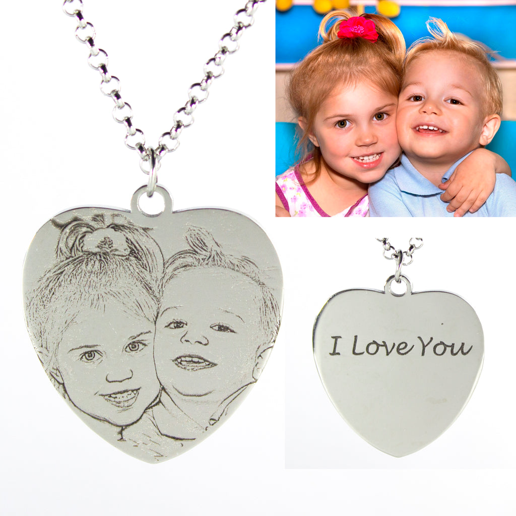 Heart Picture Photo Necklace Personalized