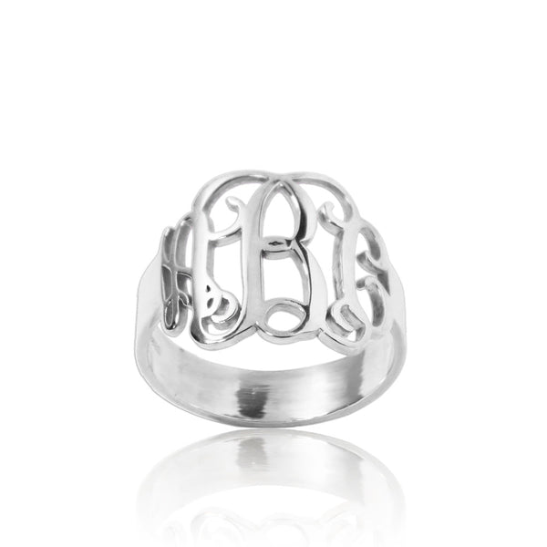 Personalized Monogram Ring Sterling Silver