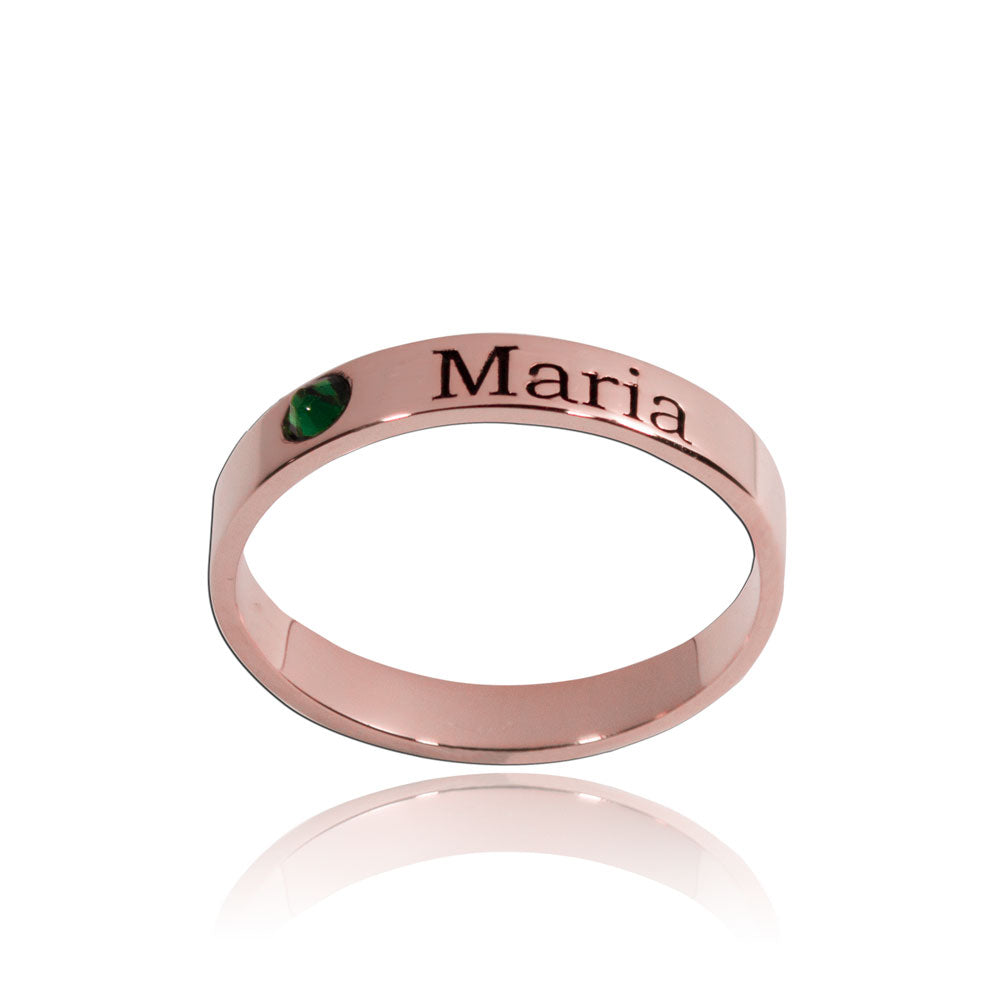 Stackable Birthstone Rings Rose Gold