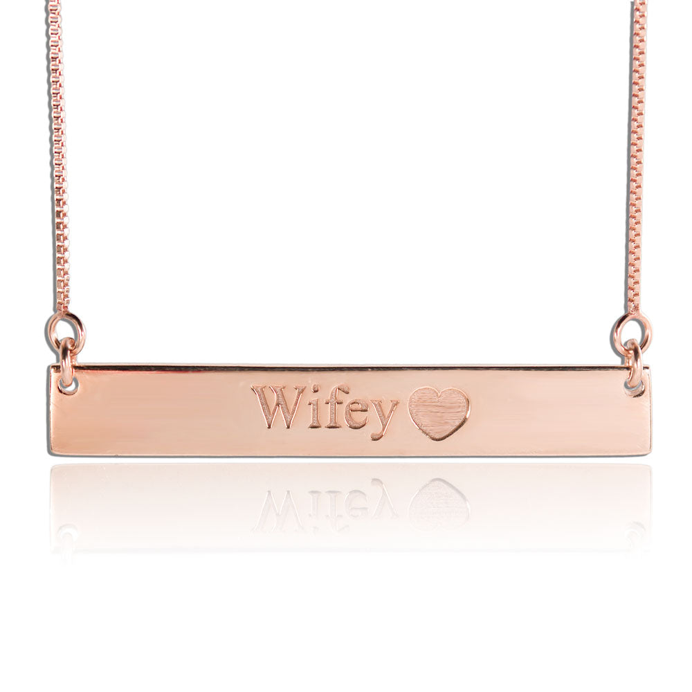 Cheap Nameplate Necklace Engraved Rose Gold