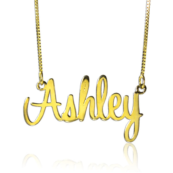 Personalized Name Necklace Gold Cheap