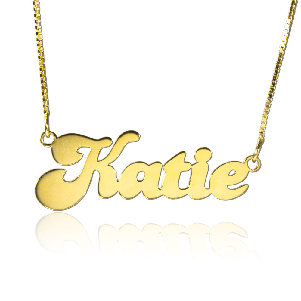 Cute Name on Necklace Gold