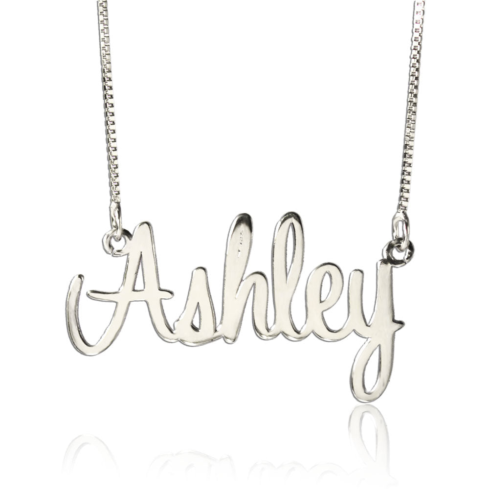 Personalized Name Necklace Silver Elegant