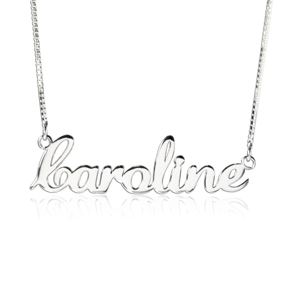 Elegant Silver Personalized Name Necklace