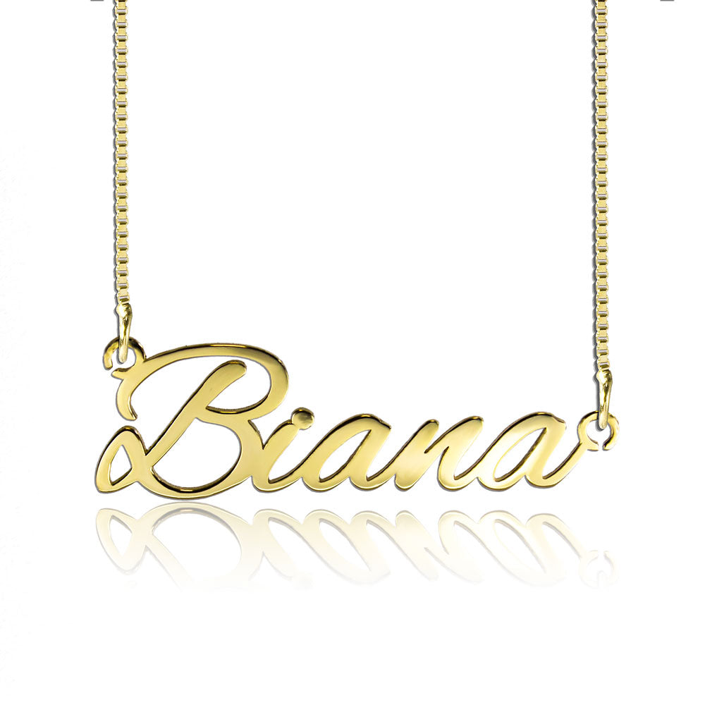 Tiny Name Necklace Custom Gift Gold