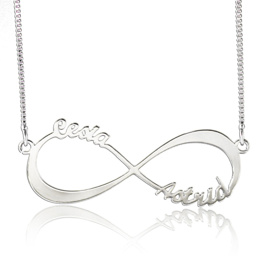 Personalized Infinity Sterling Silver Necklace