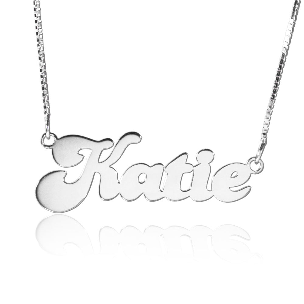 Silver Personalized Cute Name Necklace