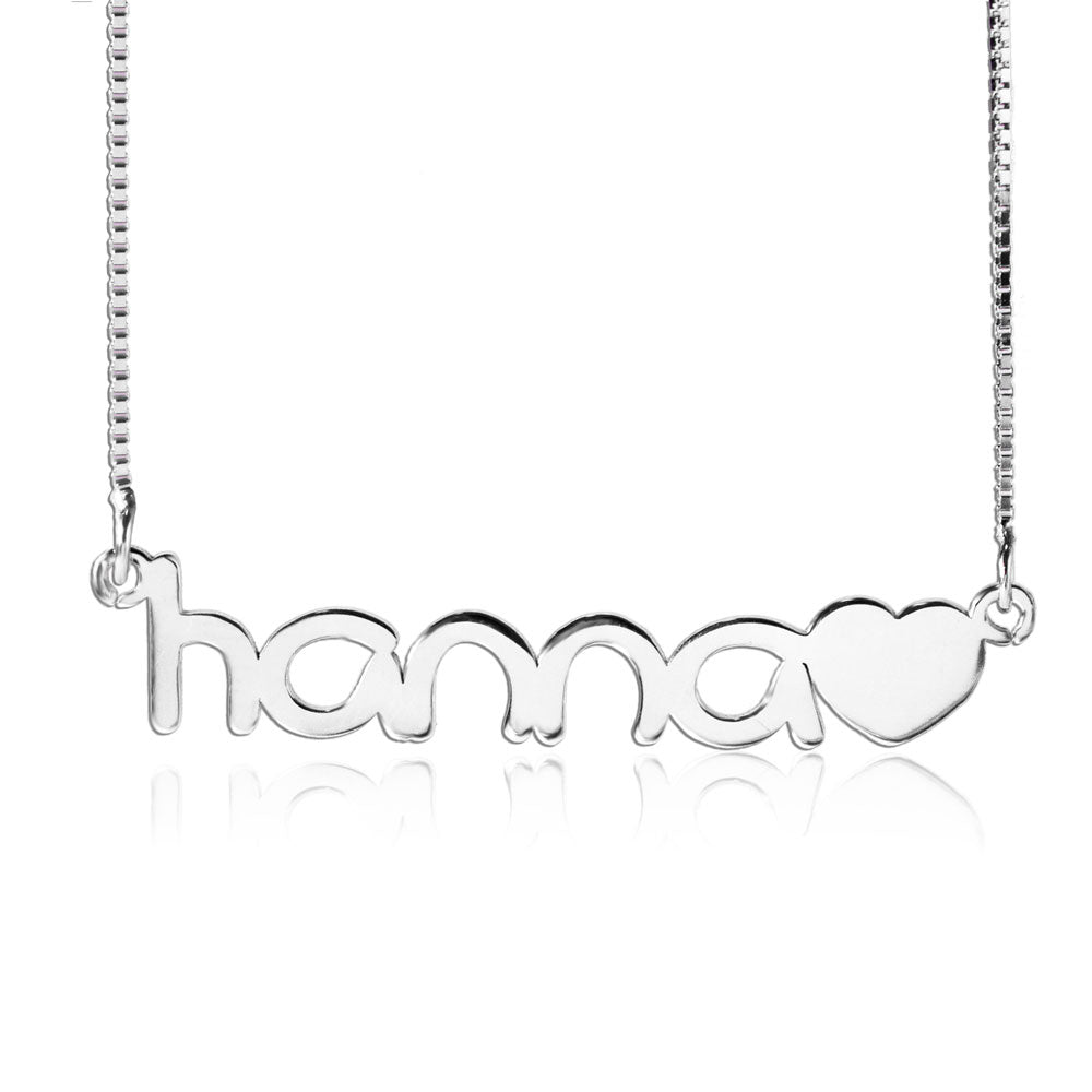 Custom Name Necklace And Heart