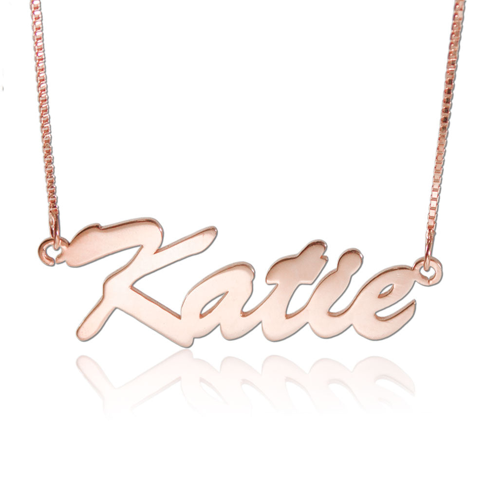 Custom Name Chains Rose Gold