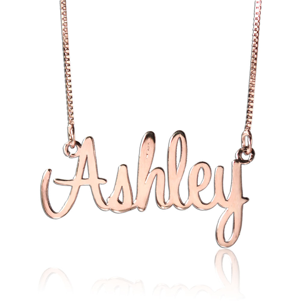 Personalized Name Necklace Rose Gold