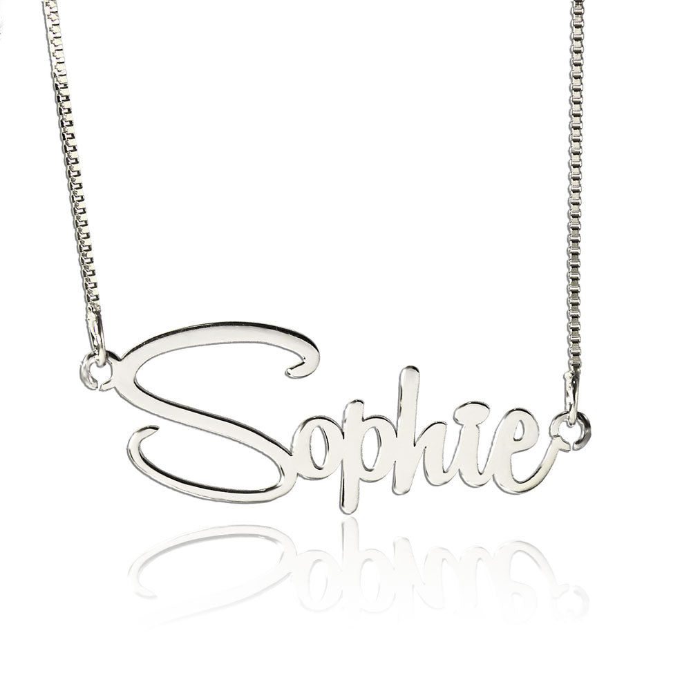 Silver Personalized Sophie Style Name Necklace
