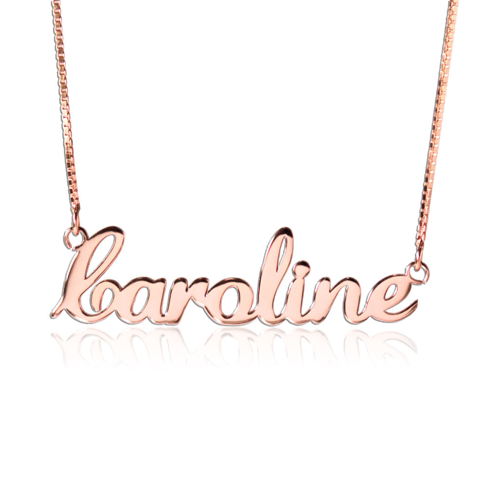 Rose Gold Personalized Nameplate Necklace