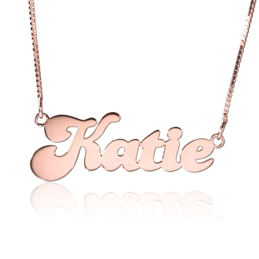 Rose Gold Name Necklace Banana Style