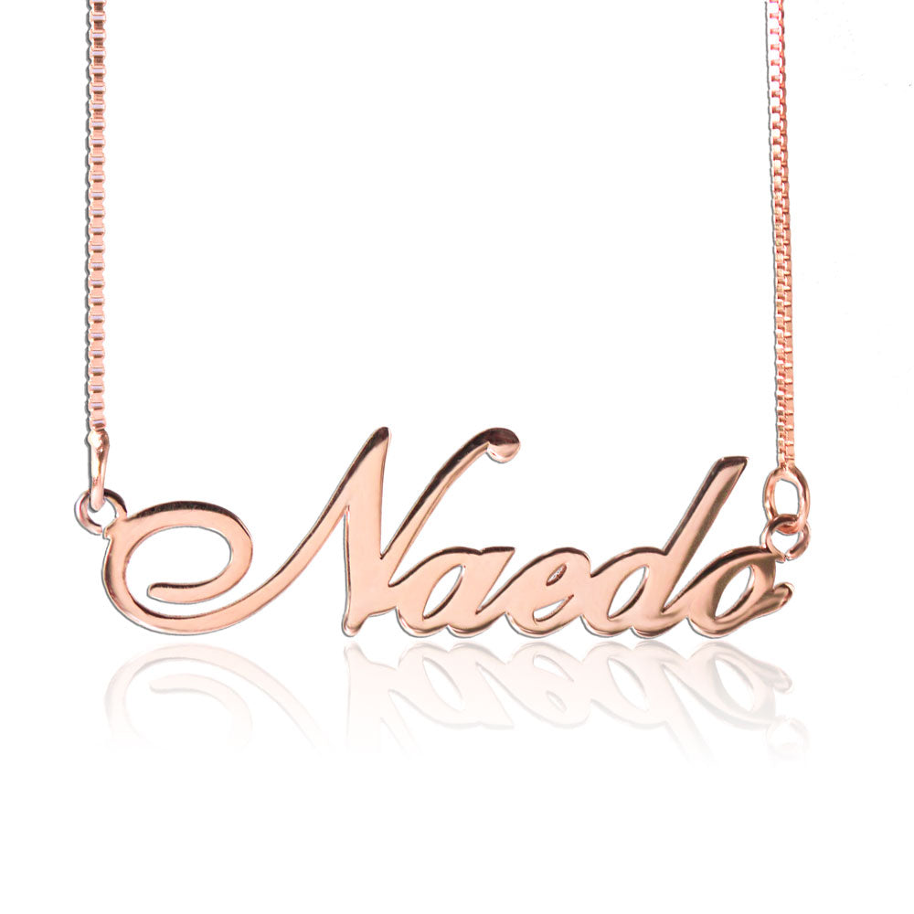 Name Made Necklace Rose Gold