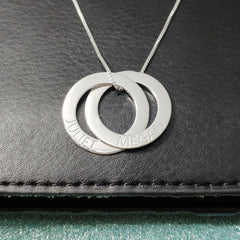 3689a673a7385 Russian Ring Necklace Personalized 2 Ring Silver – IShowJewelry