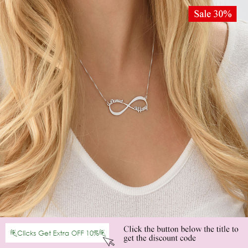 Personalized Infinity Name Necklace 1-6 Names Sterling Silver