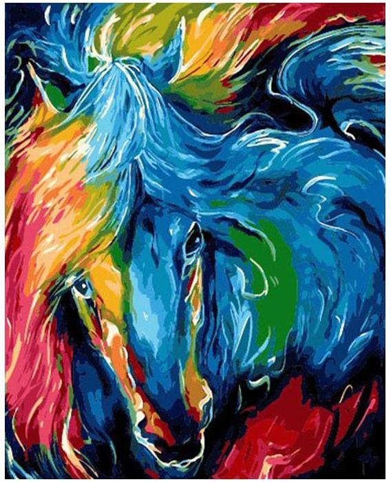 Abstract Colorful Horse