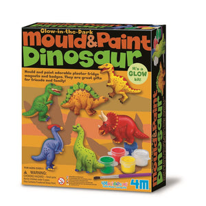 4M Craft -Glow In The Dark Mould & Paint - Dinosaur