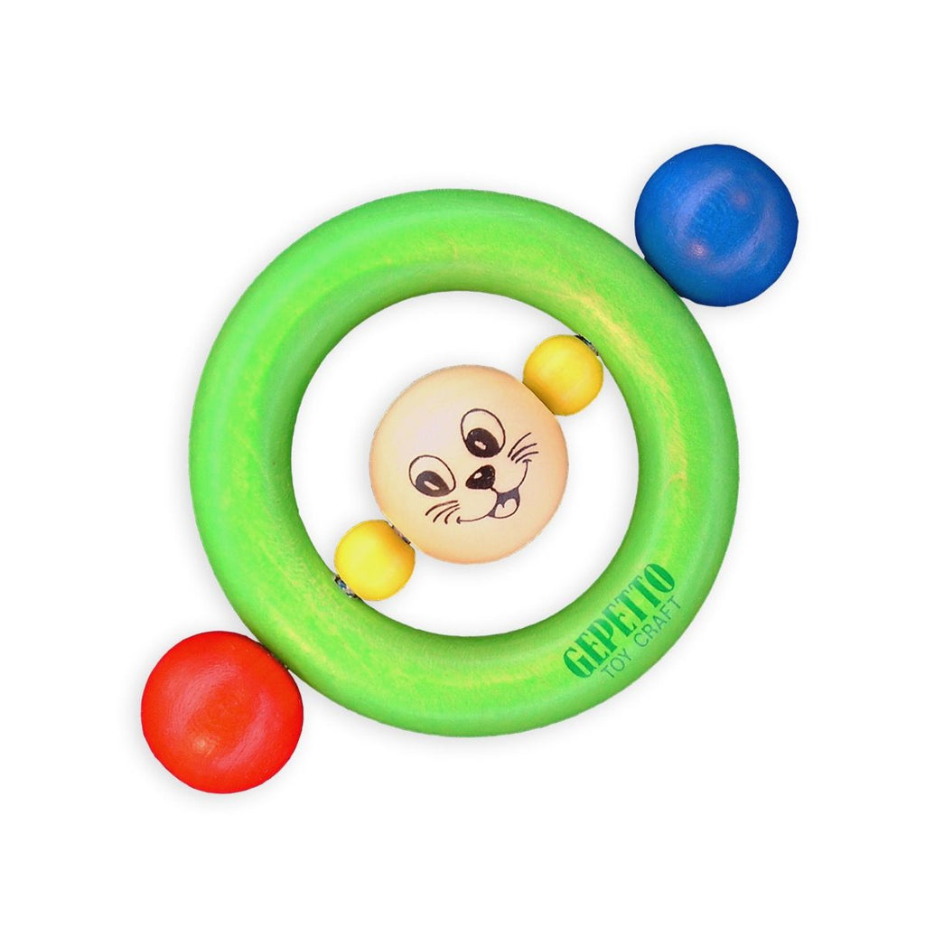 Gepetto - Figaro Teething Ring - Green