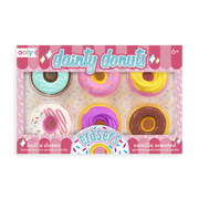 Ooly - Scented Dainty Donuts Pencil Erasers  - Half A Dozen