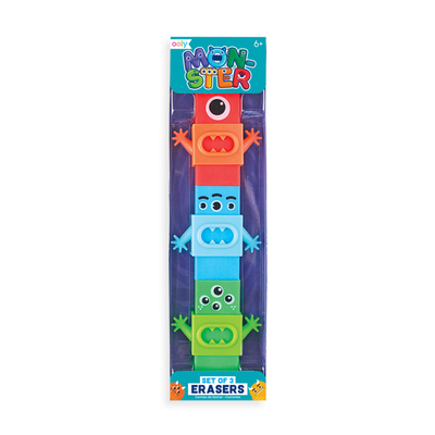 Ooly - Monster Erasers - Set Of 3