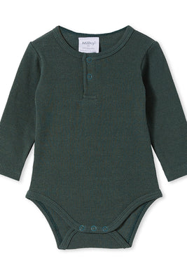 Milky Clothing - Rib Bubbysuit- Jungle Green