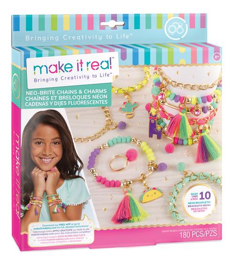 Make It Real - Neo-Brite Chains & Charms Jewellery Kit