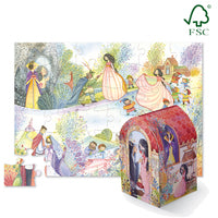 Crocodile Creek Puzzle & Play Set - Snow White Once Upon a Puzzle