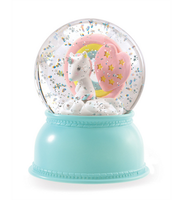 Djeco - Snow Globe Night Light - Unicorn