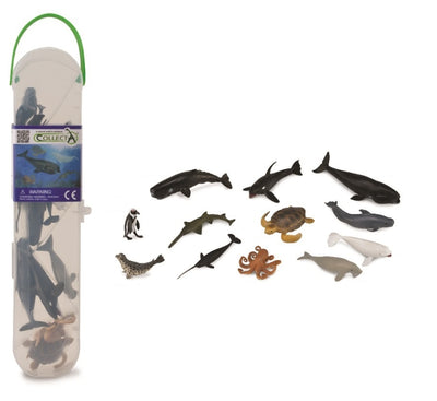 CollectA - Box Of 12 Mini Animals - Sea Life Series 2