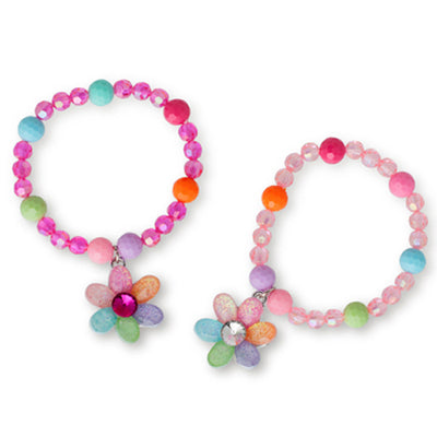 Pink Poppy - Pastel Gem Flower Bracelet - Assorted Colours