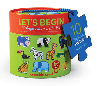 Crocodile Creek - Let's Begin 10 Two-Piece Puzzle - Jungle