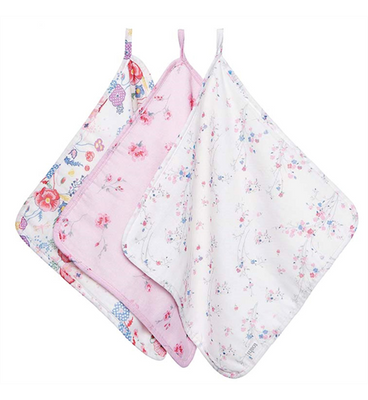 Toshi Muslin Baby Washcloth - Sundance - 3pc