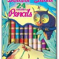 eeBoo - 12 Double-Sided Pencils - Raccoon and Owl