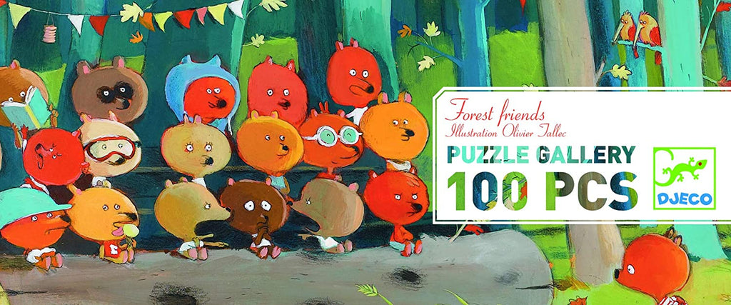 Djeco - Puzzle Gallery - Forest Friends 100pc