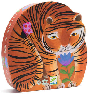 Djeco - Silhouette Puzzle - The Tiger's Walk 24pc
