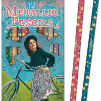 eeBoo - 12 Metallic Pencils - Bicycle Girl