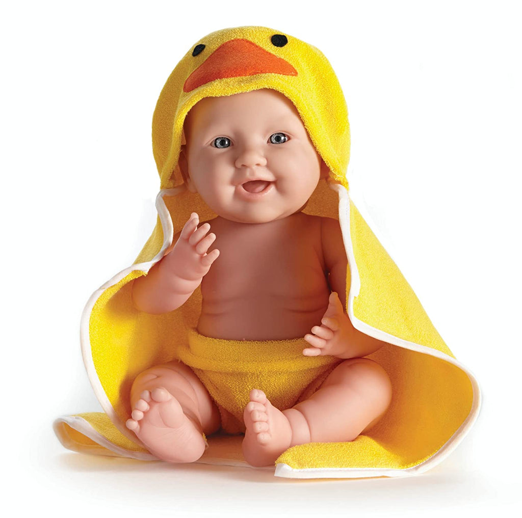 JC Toys - LA Newborn Moments Doll 17' - Real Boy Ducky