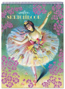 eeBoo - Sketchbook Drawing Pad - French Dancer With Flowers