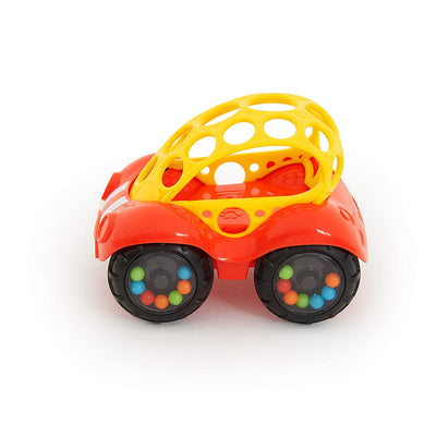 Oball - Rattle & Roll Car - Red/Yellow