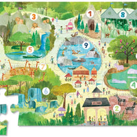 Crocodile Creek - Early Learning 123 Zoo Floor Puzzle - 24pc
