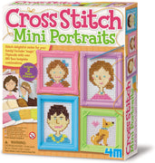 4M Craft - Cross Stitch Mini Portraits