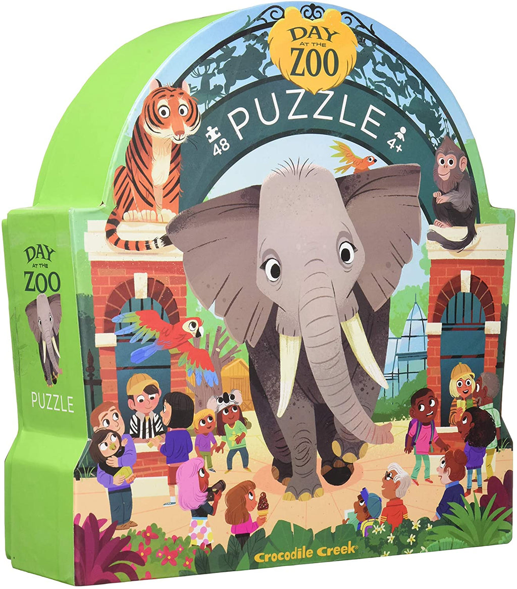 Crocodile Creek Puzzle - A Day At The Zoo 48pc