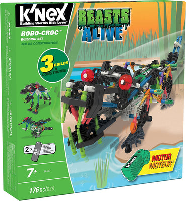 K'nex - Robo-Croc Building Set - 176pc - Including Motor