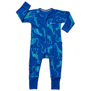 Bonds - Ribby Zippy Wondersuit - Animal Party New York Blue